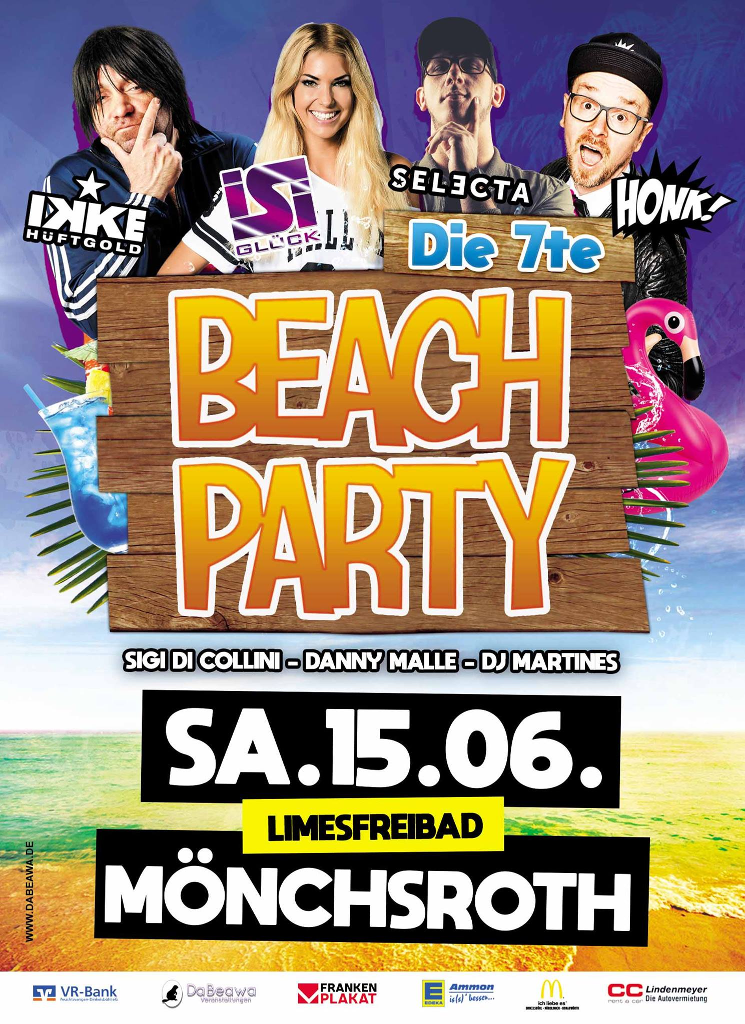 Beachparty Mönchsroth 2019 Flyer